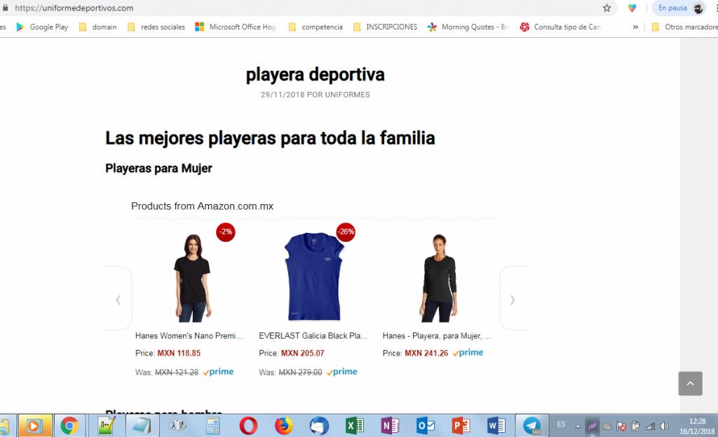 uniformes deportivos en amazon méxico programa de afiliados